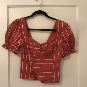 NWT Cropped Sweat-heart Top